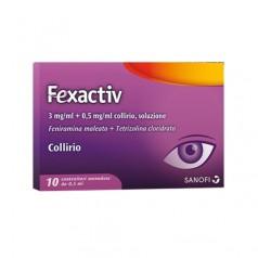 FEXACTIV*10 monod collirio 0,5 ml 0,3 mg/ml + 0,5 mg/ml