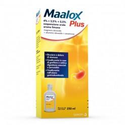 MAALOX PLUS*sospensione orale 250 ml 4% + 3,5% + 0,5%