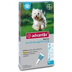 ADVANTIX SPOT ON*soluz 4 pipette 1 ml cani da 4 a 10 Kg