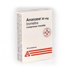 ANANASE*20 COMPRESSE RIVESTITE 40 mg