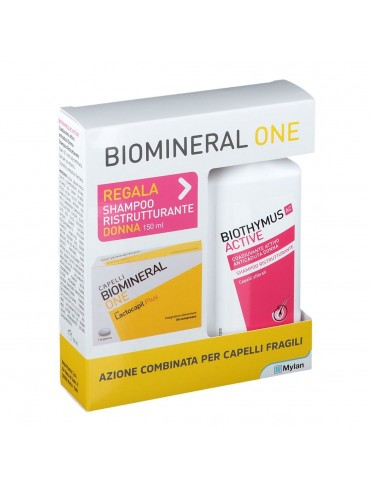 Biomineral one lactocapil 30 compresse + biothymus shampoo donna ristrutturante 150 ml