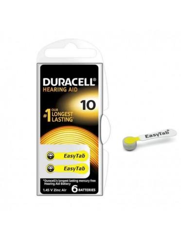 Duracell easy tab 10 giallo batteria per apparecchio acustico