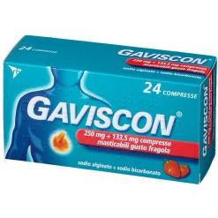 GAVISCON*24 compresse masticabili 250 mg + 133,5 mg fragola