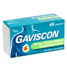 GAVISCON*48 cpr mast 250 mg + 133,5 mg menta