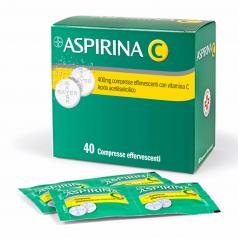 ASPIRINA C*40 cpr eff 400 mg + 240 mg con vitamina C