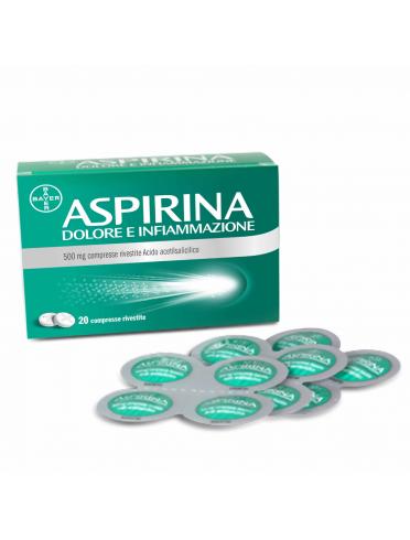 Aspirina dolore e infiammazione*20 cpr riv 500 mg