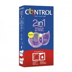 Profilattico Control 2in1 Touch & Feel + Lube 3 Pezzi