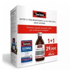 Swisse Bipack Capelli Pelle Unghie Liquido 300 ML + Swisse Donna Multivitaminico 30 Compresse