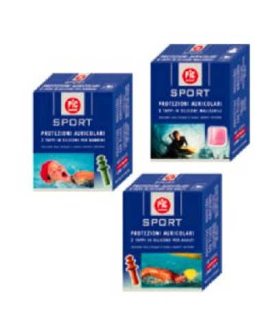Tappo auricolare in silicone pic sport per bambini 2 pezzi
