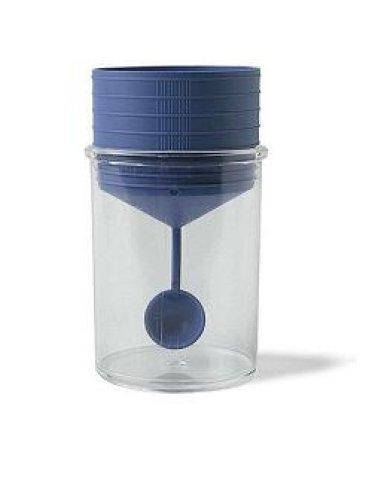 Contenitore pic sterile trasparente per analisi coprologiche+ cucchiaino specimen tappo a vite etichetta autoadesiva