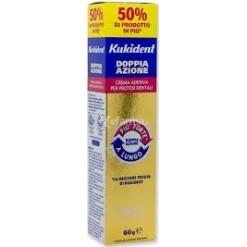 Kukident Plus Doppia Azione Crema Adesiva per Protesi Dentarie 60 G