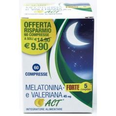 Melatonina Act 1 MG + Valeriana 5 Forte Complex 60 Compresse