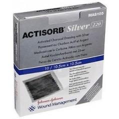 ACTISORB SILVER MEDICAZIONE IN CARBONE ATTIVO CON ARGENTO 10,5X10,5 CM 3 PEZZI