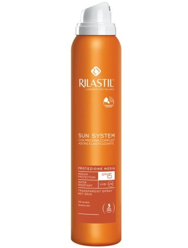 Rilastil sun system photo protection therapy spf15 transparent spray 200 ml