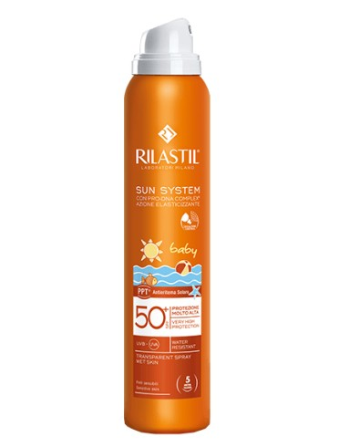 Rilastil sun system photo protection therapy spf50+ baby transparent spray 200 ml