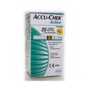 STRISCE MISURAZIONE GLICEMIA ACCU-CHEK ACTIVE STRIPS 25 PEZZI INF RETAIL