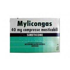 MYLICONGAS*50 COMPRESSE MASTICABILI 40 mg