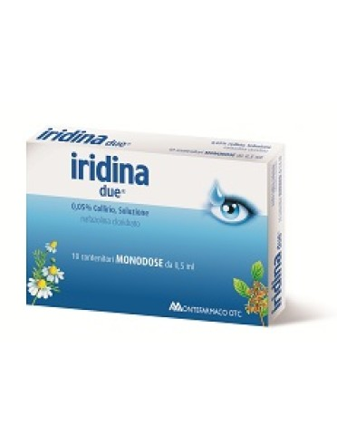 Iridina due*10 monod collirio 0,5 ml 0,05%