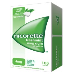 NICORETTE*105 gomme mast 4 mg menta forte