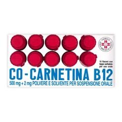 COCARNETINA B12*orale sosp 10 flaconcini 10 ml 500 mg + 2 mg