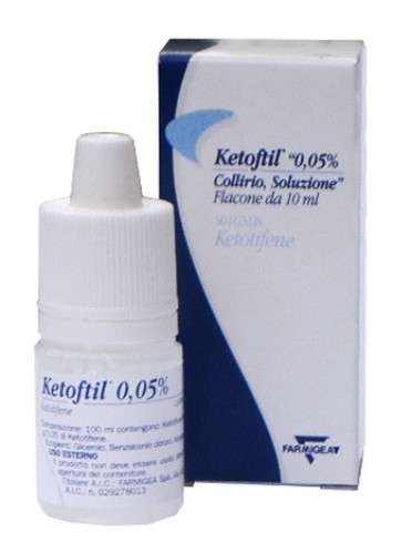 Ketoftil*collirio 10 ml 0,5 mg/ml