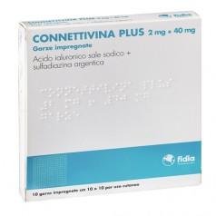 CONNETTIVINA PLUS*10 garze 2 mg + 40 mg 10 cm x 10 cm