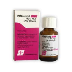 VERUNEC*collodio soluz cutanea 15 g + 15 g/100 g