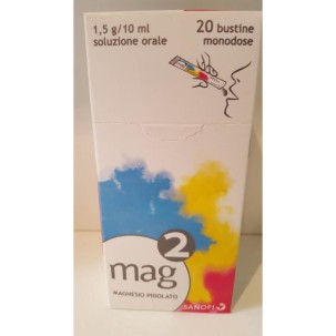 MAG 2*orale soluz 20 bustine monodose 10 ml 1,5 g/10 ml