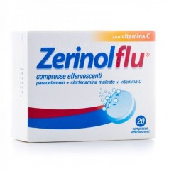 ZERINOLFLU*20 compresse effervescenti 300 mg + 2 mg + 280 mg