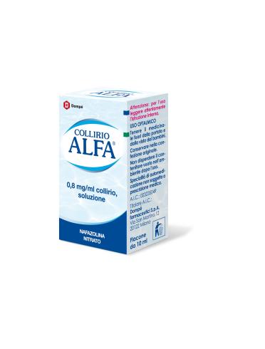 Collirio alfa*collirio 10 ml 0,8 mg/ml