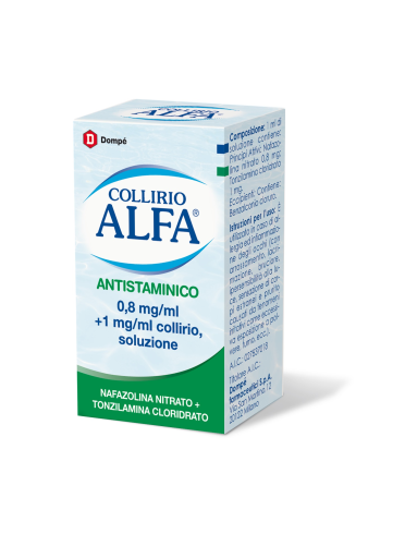 Collirio alfa antistaminico*collirio 10 ml 8 mg/ml + 1 mg/ml