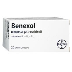 BENEXOL*20 cpr gastrores 250 mg + 250 mg + 500 mcg flacone