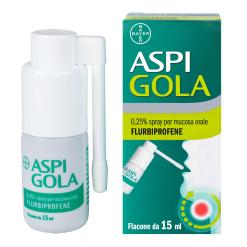 Aspi Gola Spray per Mucosa Orale 15 ml 0,25%